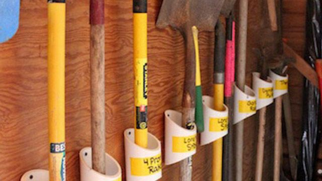 Keep Your Garden Tools Organized With A PVC Storage Rack