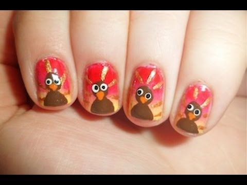 Thanksgiving Nail Art check out www.MyNailPolishObsession.com for more nail  art ideas. - Thanksgiving Nail Art Check Out Www.MyNailPolishObsession.com For