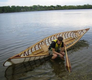 Skin on frame rowing wherry. Looks beautiful. The boat is called ...