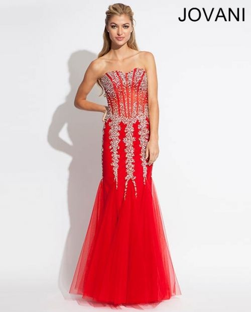 Strapless mermaid long dress 5908 taylor