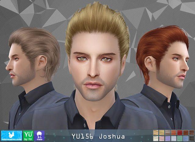 Resultado de imagen de sims 4 Newsea Hairstyle YU 156 Joshua Male hair Sims 4 free