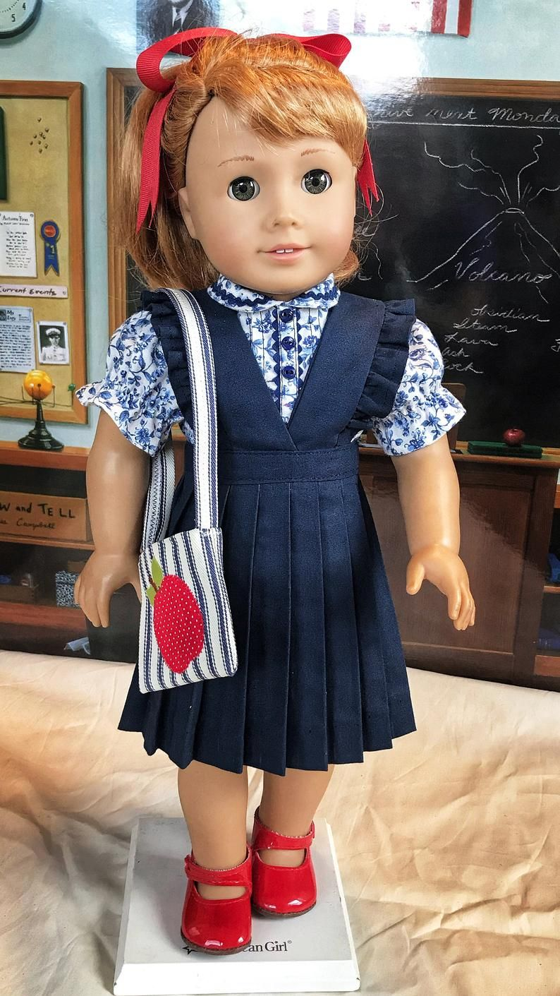 School Jumper Blouse Bow Bag image 0 #historicaldollclothes