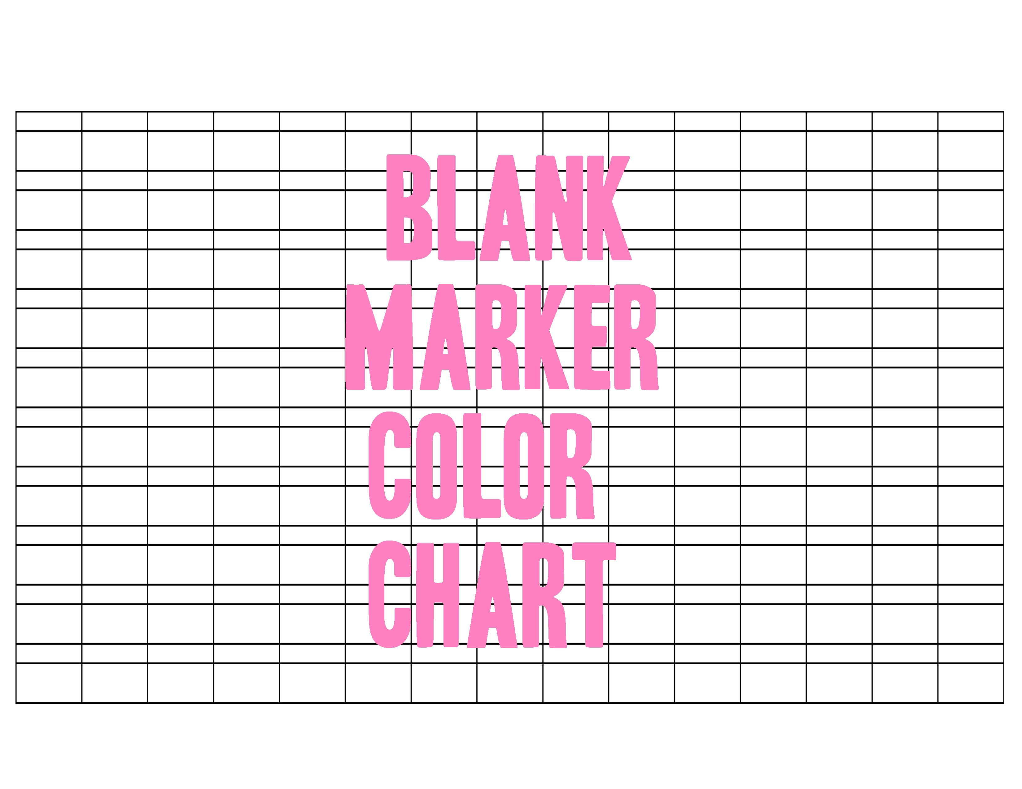 blank marker color chart by otomezakideviantartcom on deviantart - Blank Pictures To Colour