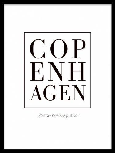 Copenhagen Plakater Tekstposter Copenhagen Poster Med Teksten Copenhagen I Stilren Font Til Dig Som Elsker Denne Skonne By Super Med Billeder Plakater Tekster Citater