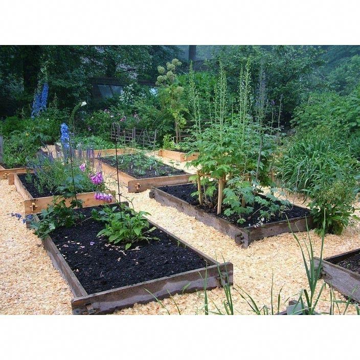 Farmstead Raised Garden Bed kit Love the bark in between
