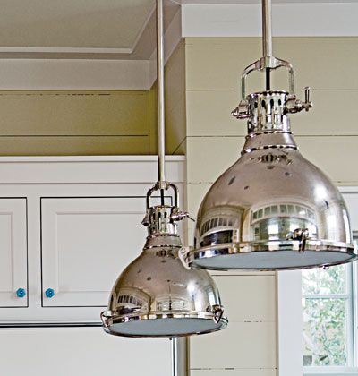 Powell Reinvented Vintage Elements By Varying Their Scale And Finish - Silver kitchen light fixtures