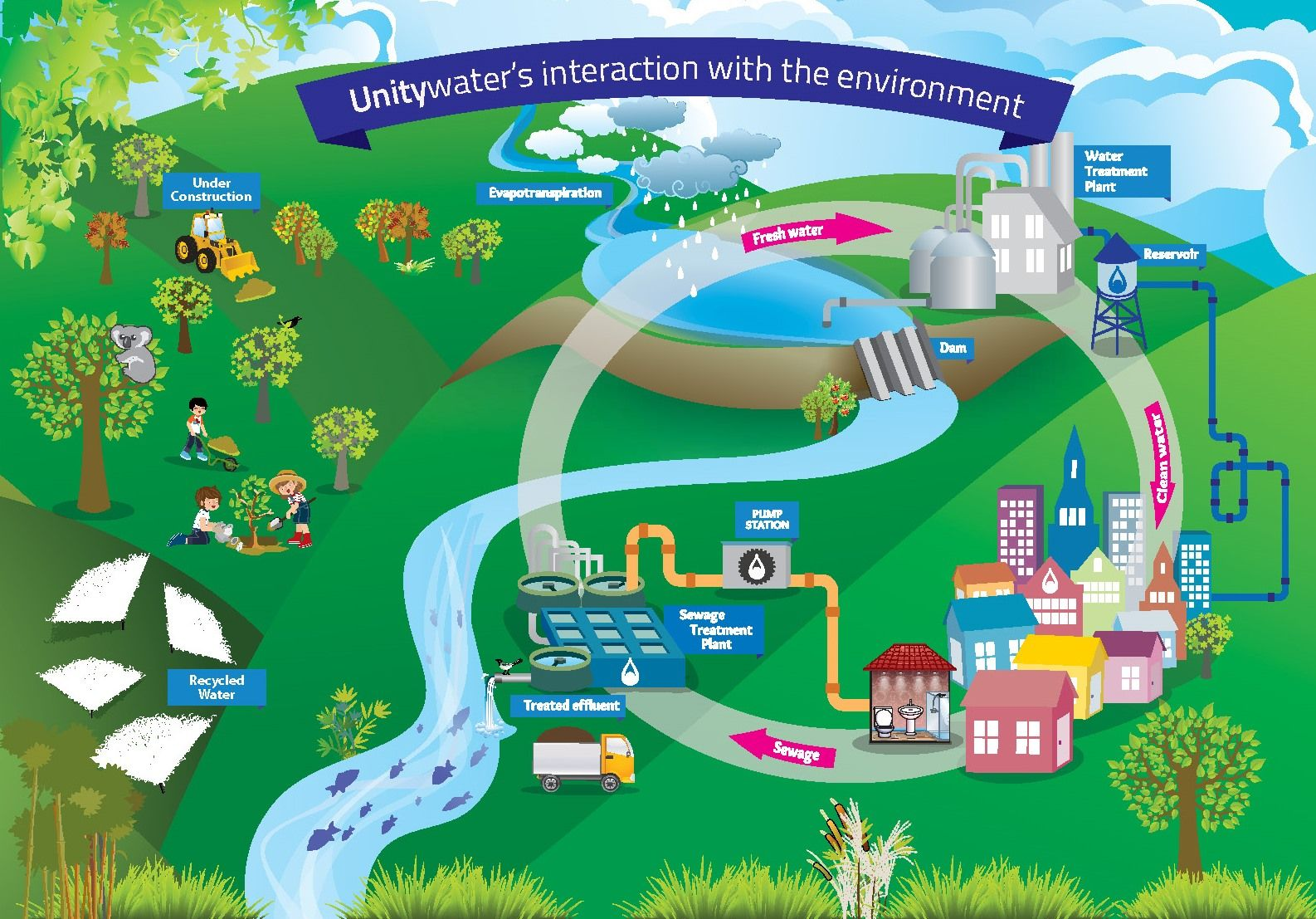 Urban water cycle (With images) Water cycle, Water