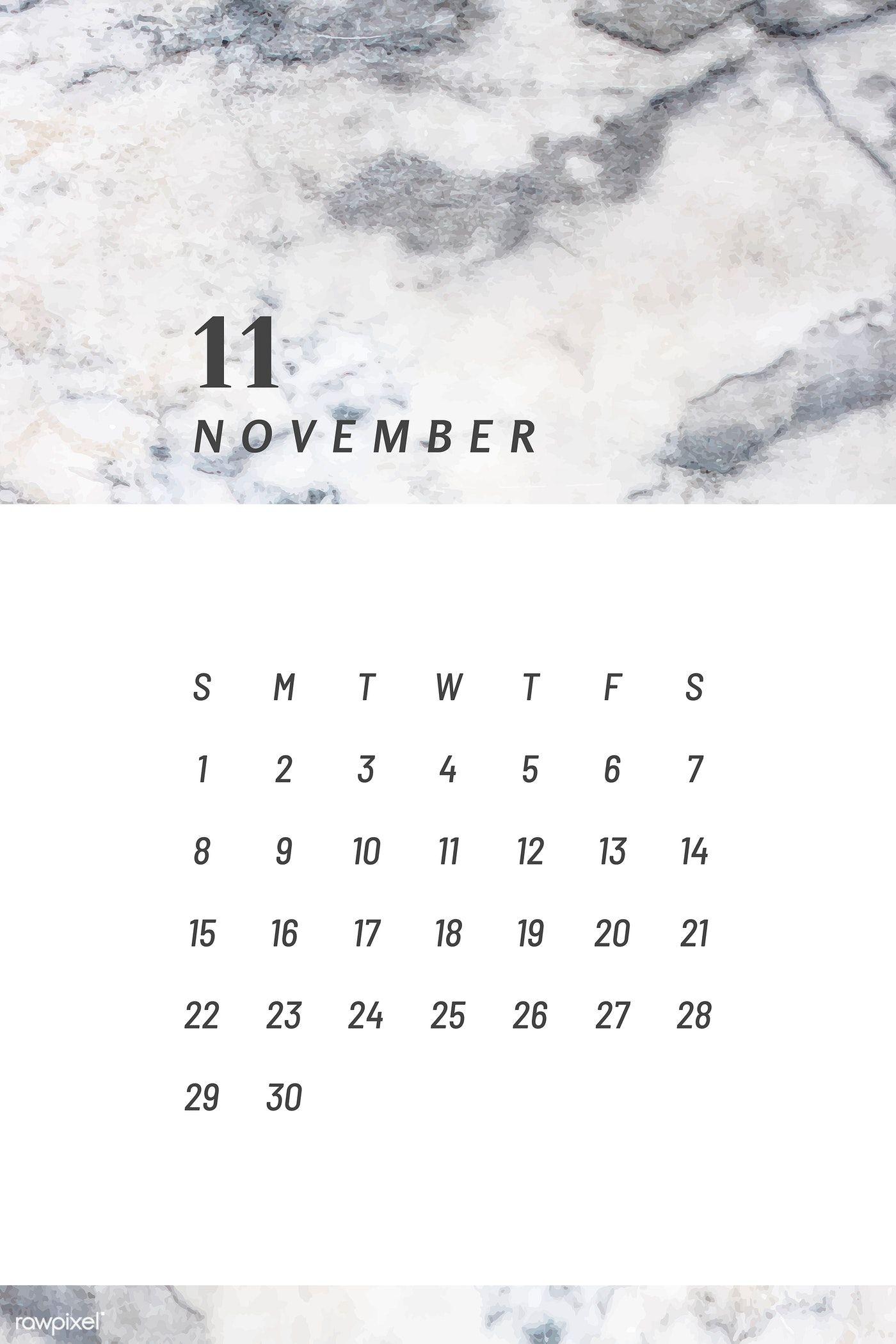 Download premium vector of Black and white November