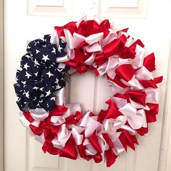 Photo of DIY Patriotic Ribbon Wreath