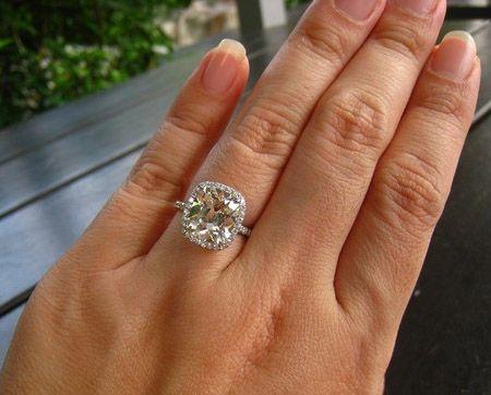 4 Carat Wedding Rings On Hand