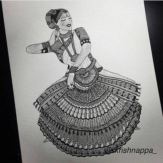 Drawing Classical Dance Art Creative Ideas