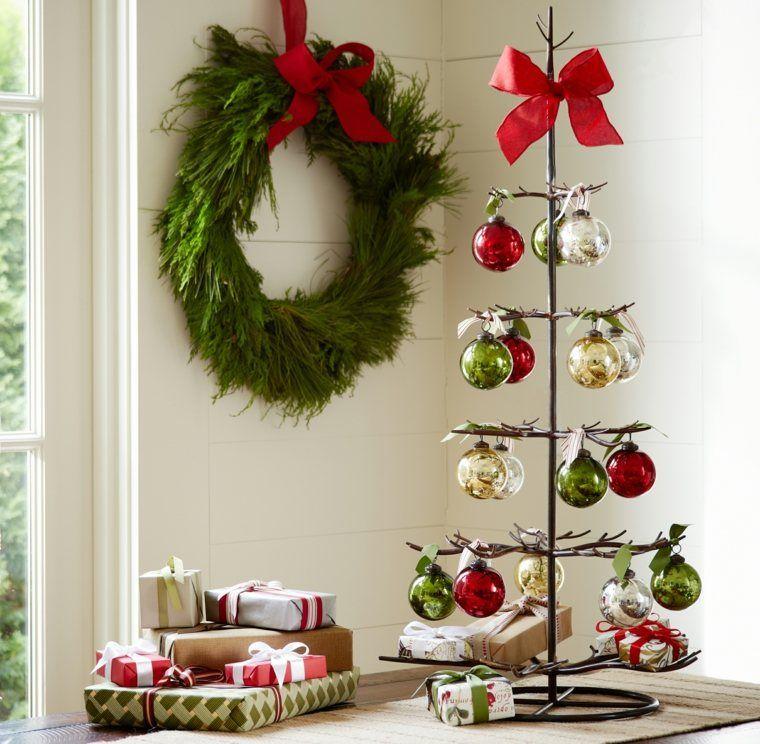 arbol navidad decoracion lazo rojo ideas Decoración para Navidad