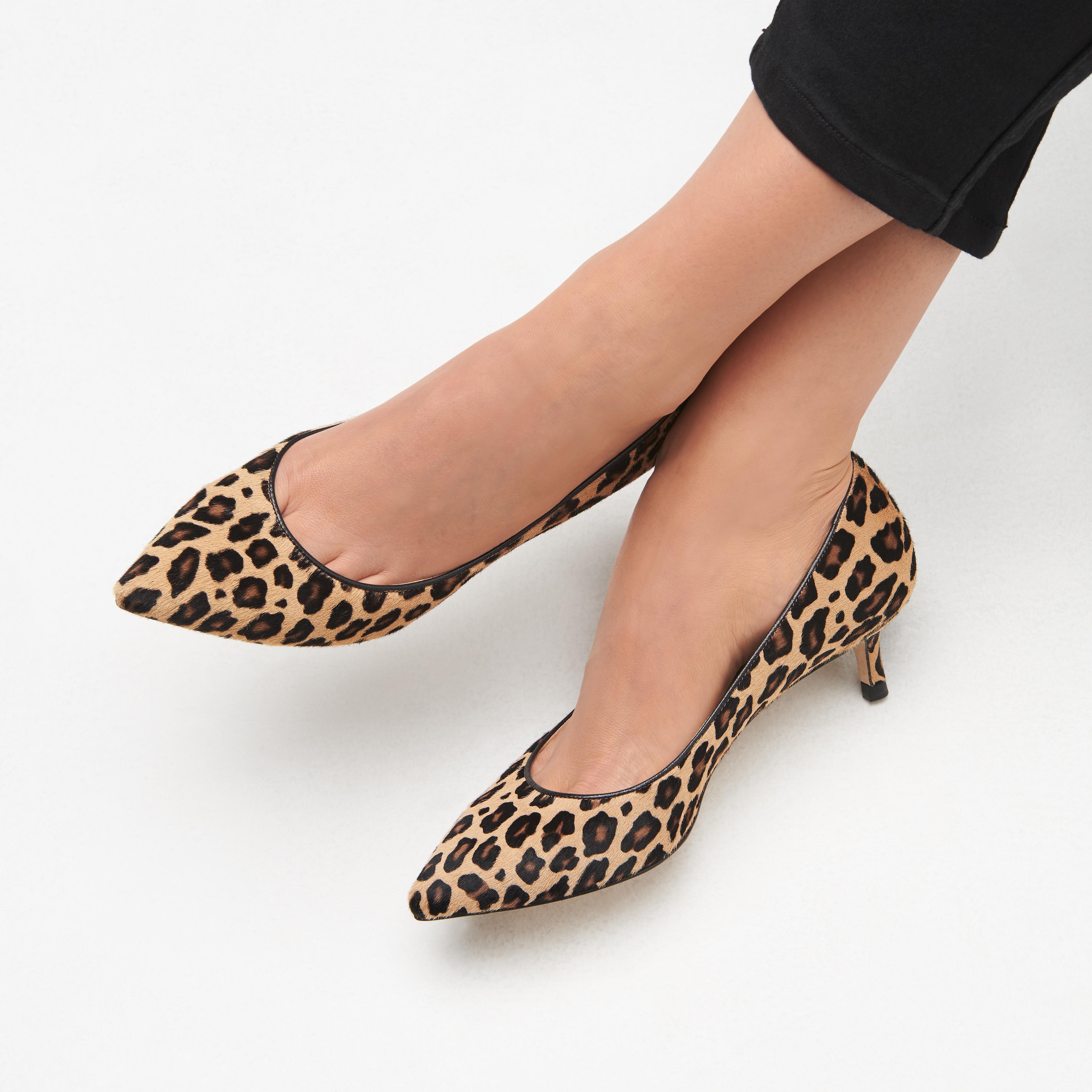 Audrey Leopard Print Heels Kitten Heels Shoes Collections L K Bennett London