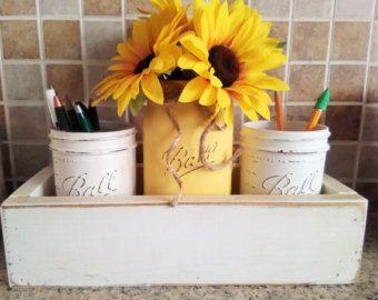 Beautiful Rustic Office Decor Rustic Desk Organizer Office Gift Mason Jar Pencil  Holder Set New Job Gift Desk Organizer Set Of Mason Jars For Desk