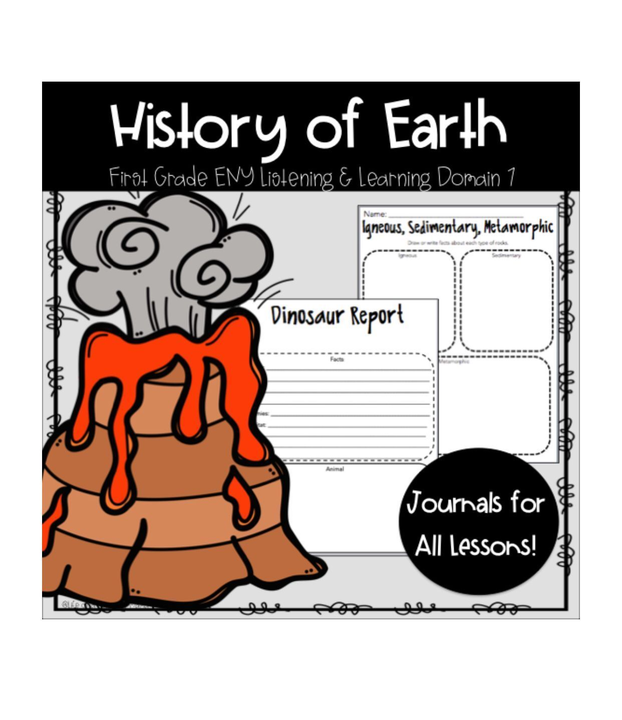 History of Earth #historyofdinosaurs My History Of Earth unit goes with the Engage New York ELA Domain 7. There are several worksheets for each day of the module.  Some of the things in this packet are:  Venn Diagrams  Word Work  Dinosaur Research  Writing Prompts  Vocabulary  *This contains worksheets for all lesson!* #historyofdinosaurs History of Earth #historyofdinosaurs My History Of Earth unit goes with the Engage New York ELA Domain 7. There are several worksheets for each day of the modu #historyofdinosaurs