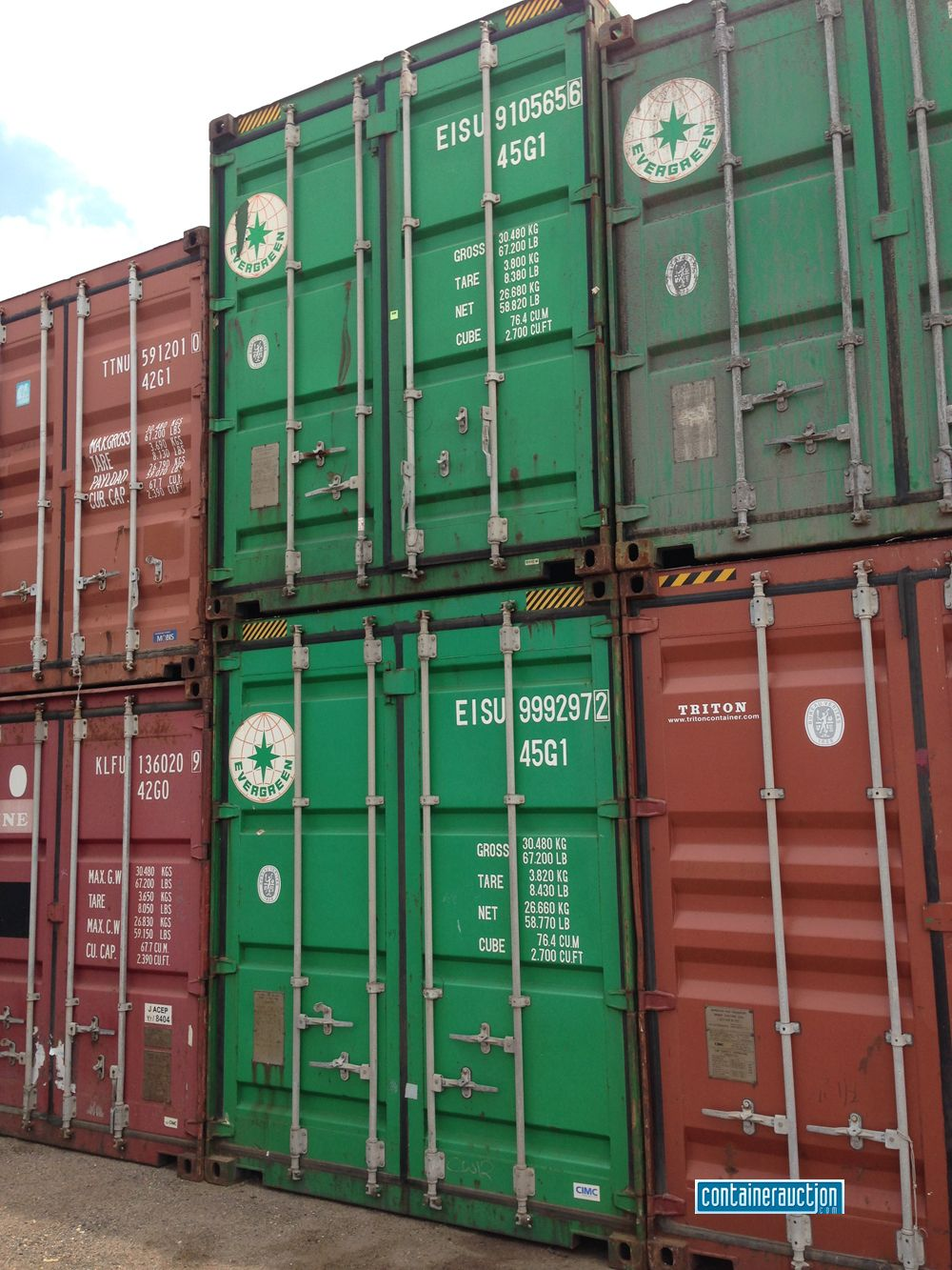 Evergreen Triton And K Line Shipping Containers At The Depot In Denver Co Shipping Container Prices Container Prices Used Shipping Containers