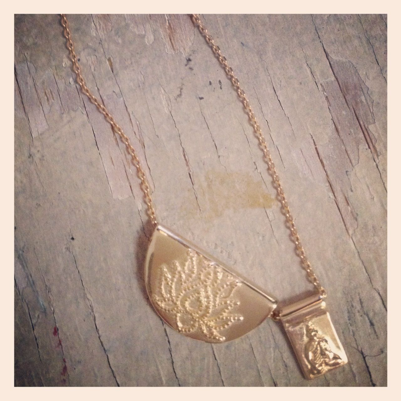 A new arrival.. Lotus little Buddha necklace