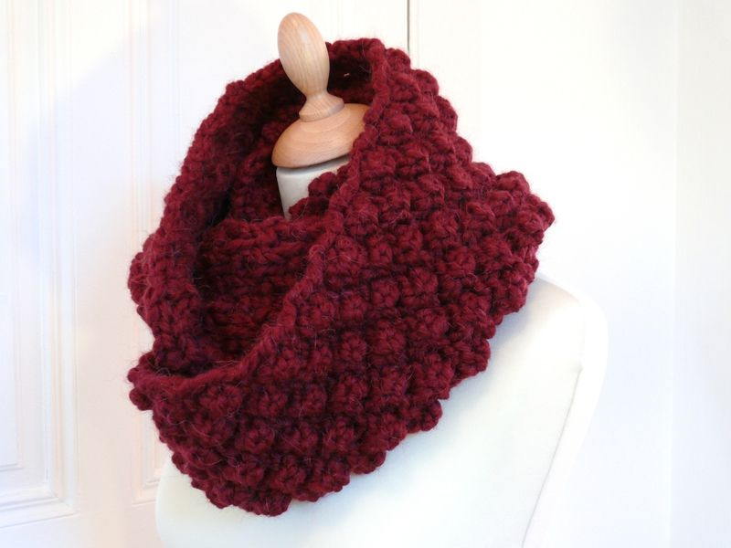 Diy Le Snood Oxford Bee Made Snood Tricot Tricot Et