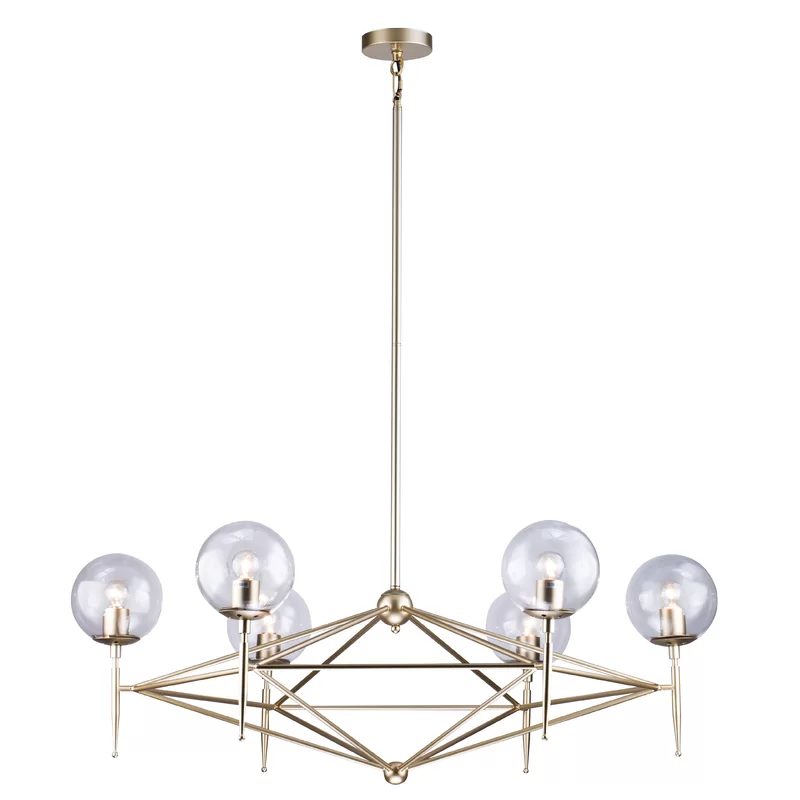 Eastbourne 6 Light Unique Statement Geometric Chandelier In 2020 Geometric Chandelier Chandelier Ceiling Lights Ceiling Fixtures