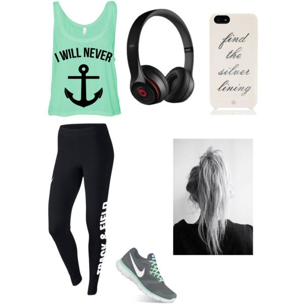Out for a jog!!! by angelinalinares on Polyvore featuring NIKE, Kate Spade and Beats by Dr. Dre