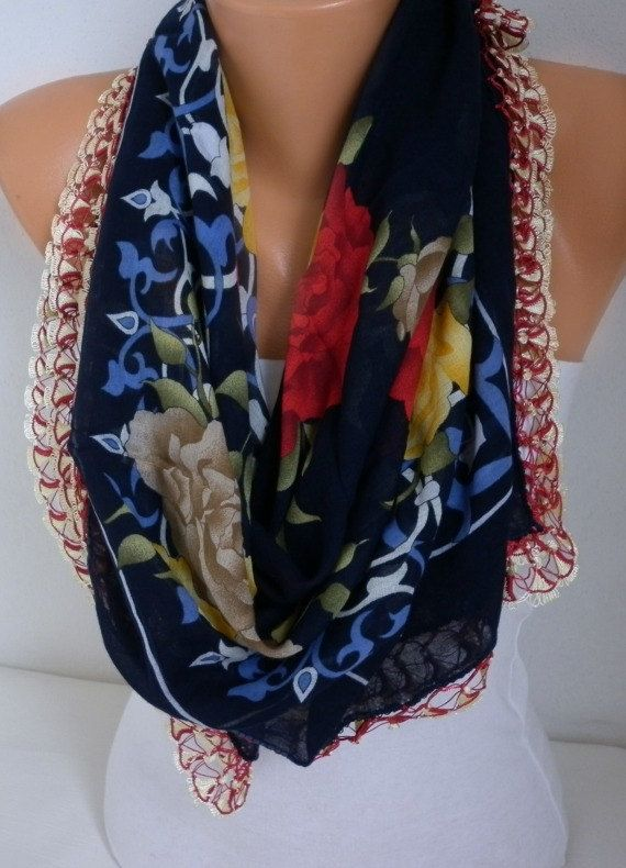 Refresh Scarf Spring Scarf Turkish Floral Anatolians by fatwoman ... db4630e034d