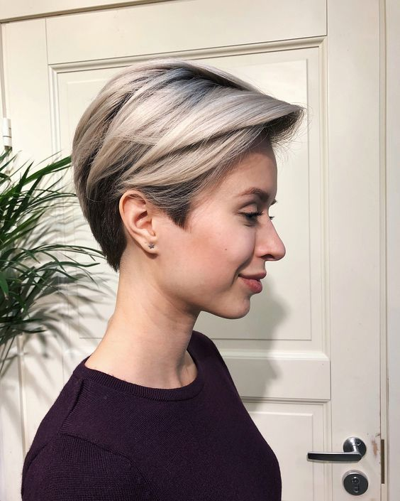 coiffure courte mechée en 2019 | Coiffure courte, Coupe de cheveux et Coiffure