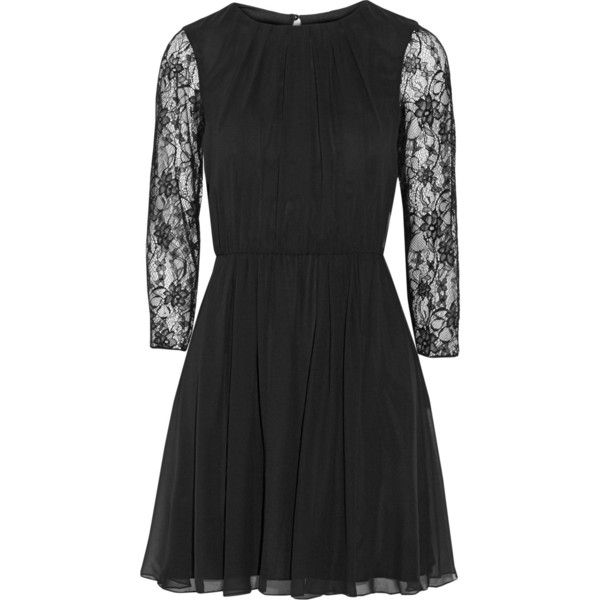 Alice + Olivia Conan lace-paneled georgette mini dress and other apparel, accessories and trends. Browse and shop related looks.