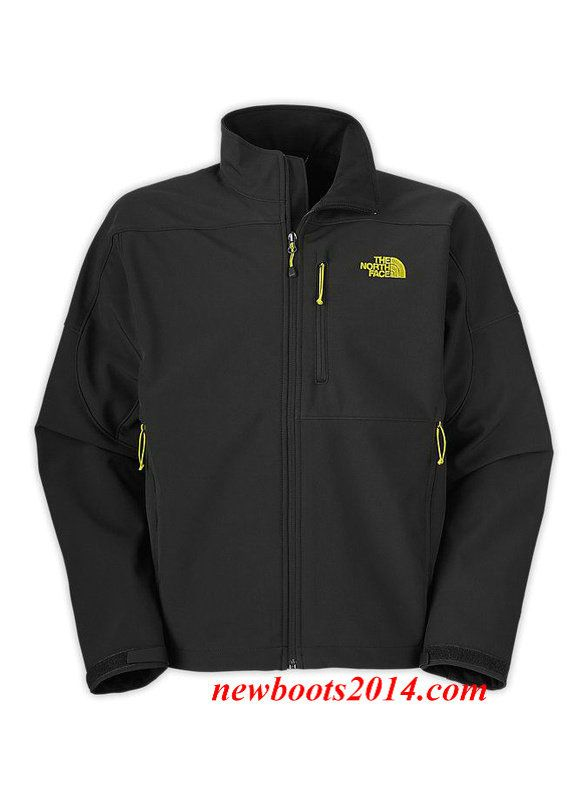 4d871e23b The North Face Mens Apex Bionic Jacket Black Yellow   The North Face ...