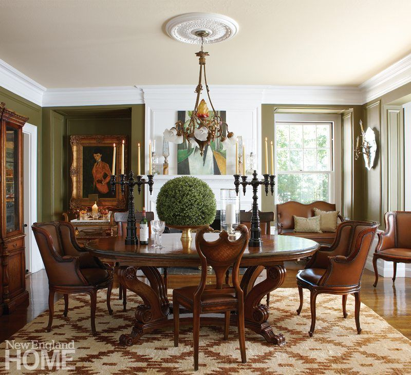Room Mismatched chairs from Theodore Alexander surround