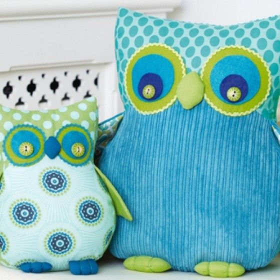 FREE Owl Soft Toys - Sewing Pattern | Sewing toys/ play | Pinterest ...