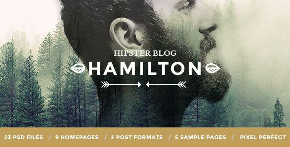 Hamilton - Hipster Blog PSD Template - Personal PSD Templates Download here : https://themeforest.net/item/hamilton-hipster-blog-psd-template/19219118?s_rank=200&ref=Al-fatih