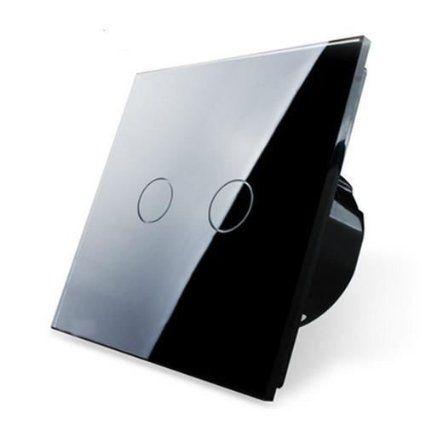 Design Glas Touch Lichtschalter 1 Fach 2 Ein Aus Schwarz Amazon De 32eur Lichtschalter Licht Schalter