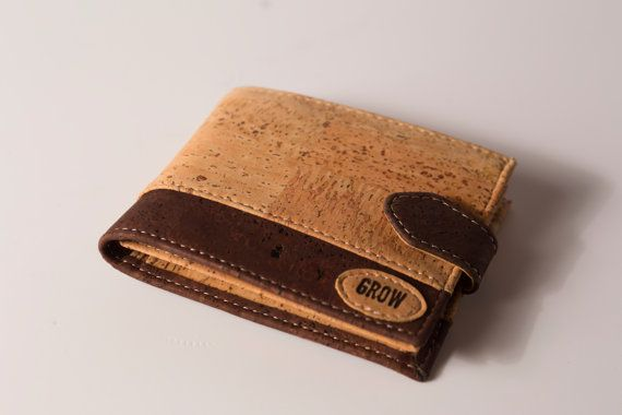 Grows Quercus Rubra Cork Wallet for Man