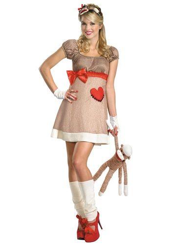 Deluxe Miss Sock Monkey Costume halloween Pinterest Sock - cheap funny halloween costume ideas