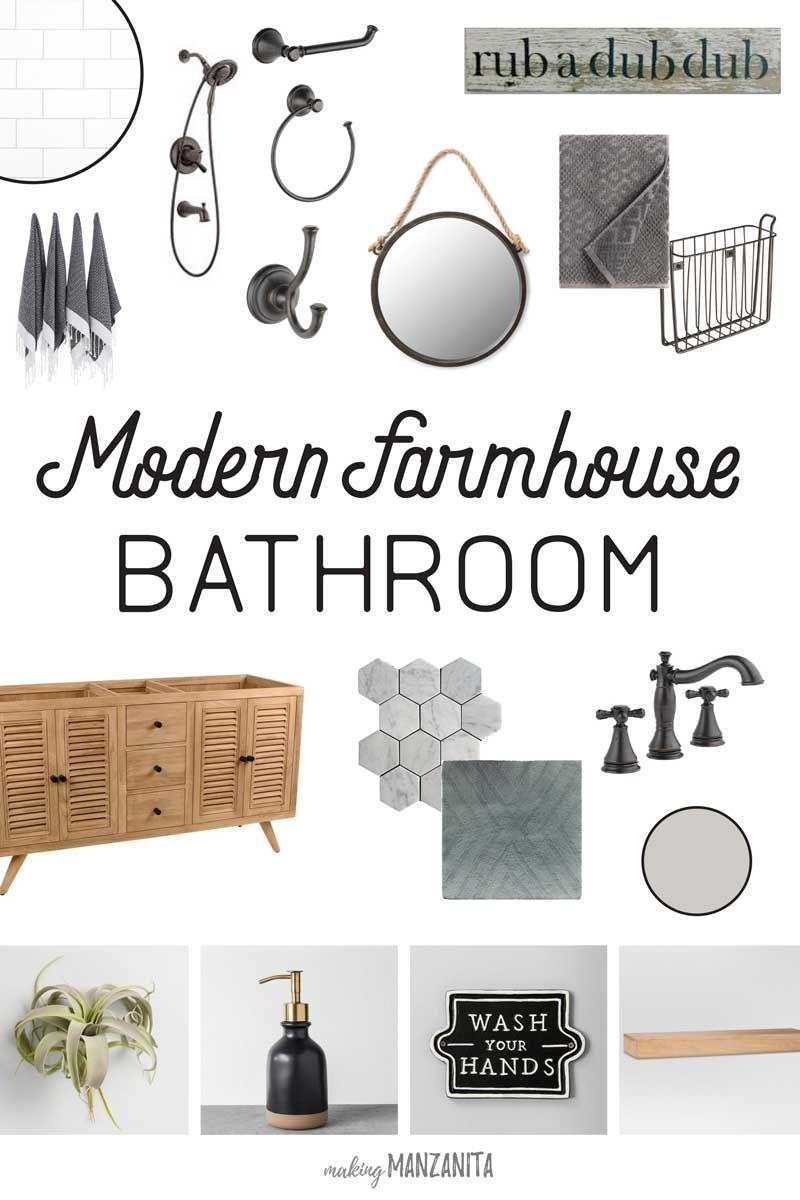 Photo of Modern Farmhouse Bathroom Mood Board (+ Week 2 Update) – Making Manzanita