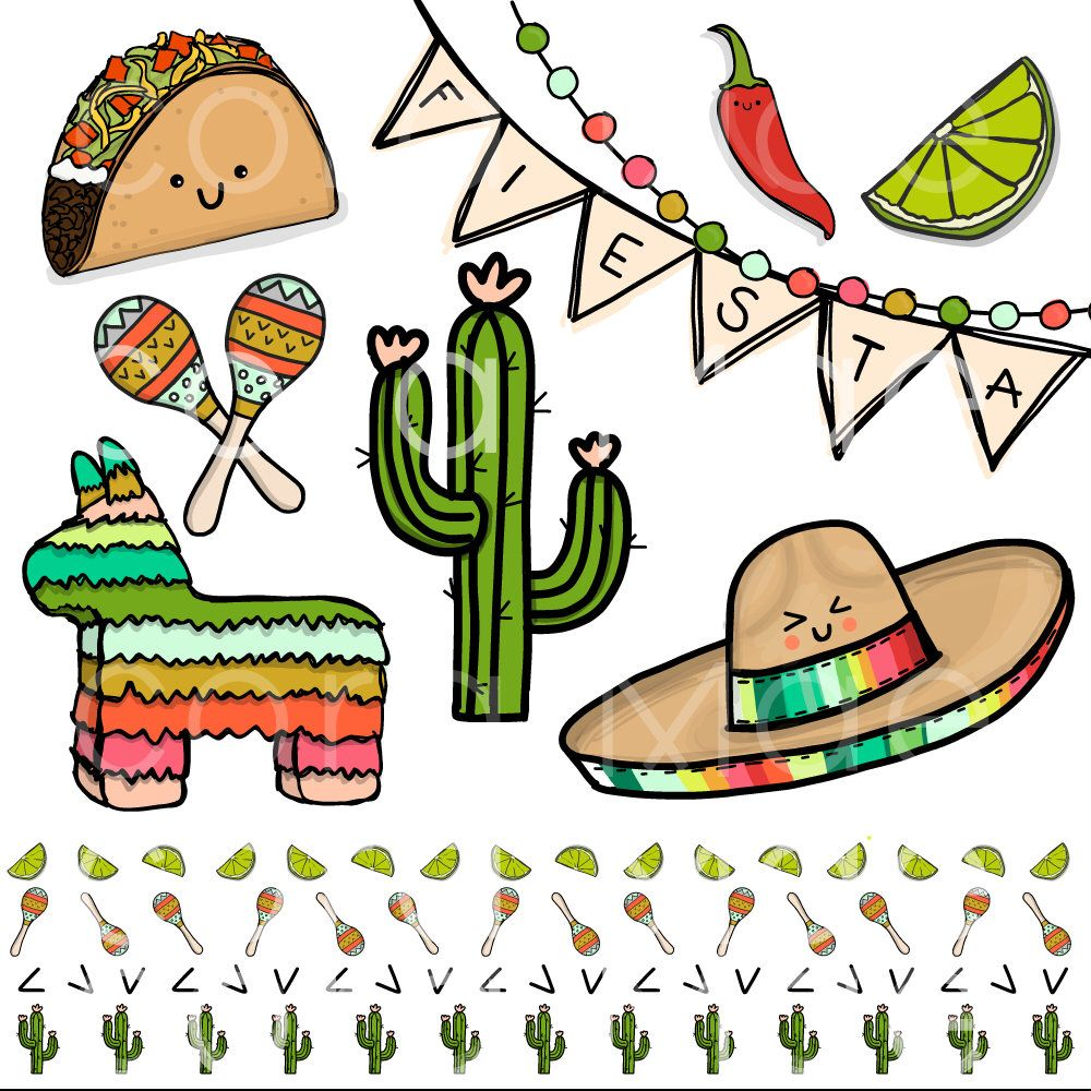 fiesta clipart. 12 files. transparent