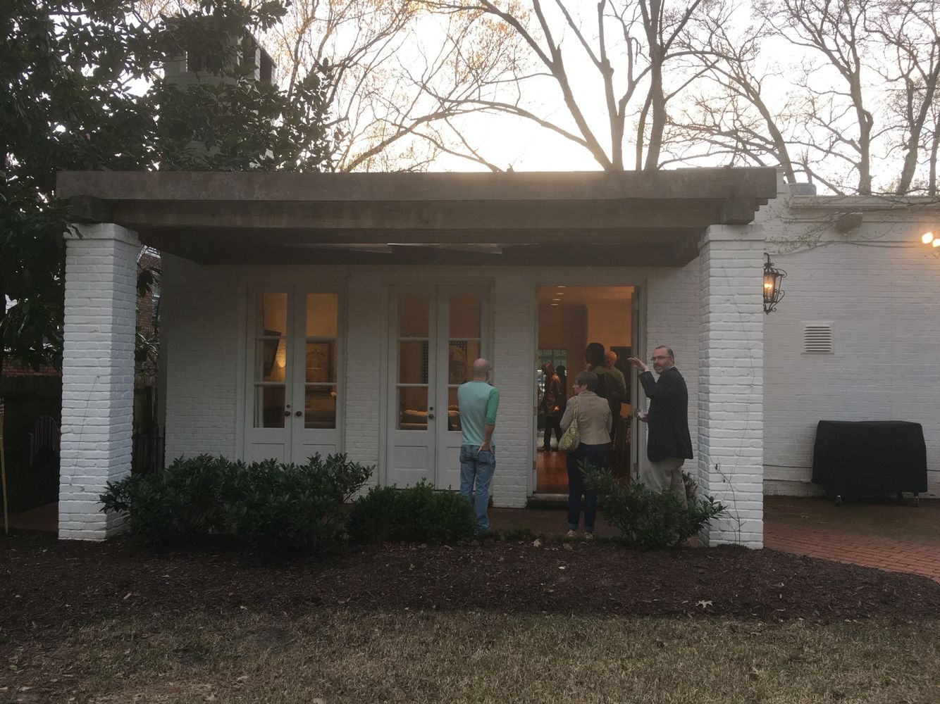 Front Porch Renovation: 3 French doors and a pergola, but wooded posts