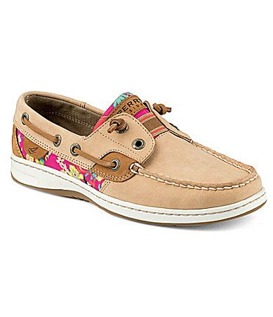 Sperry TopSider Rainbowfish Flamingo Floral Boat Shoes