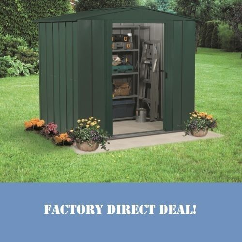 Arrow Metal Shed 8x7 Tool Garden Outdoor Storage Sheds Diy Backyard Building Kit Arrowshedsarrowshedsarrowstoragesheds Shed Home Depot Shed Backyard Storage