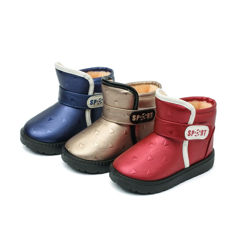 Toddler Kids Baby Shoes Children Boys Girls Winter Warm Outdoor Shoes Snow Boots