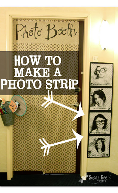 tutorial on how to make a giant photo strip for super cheap