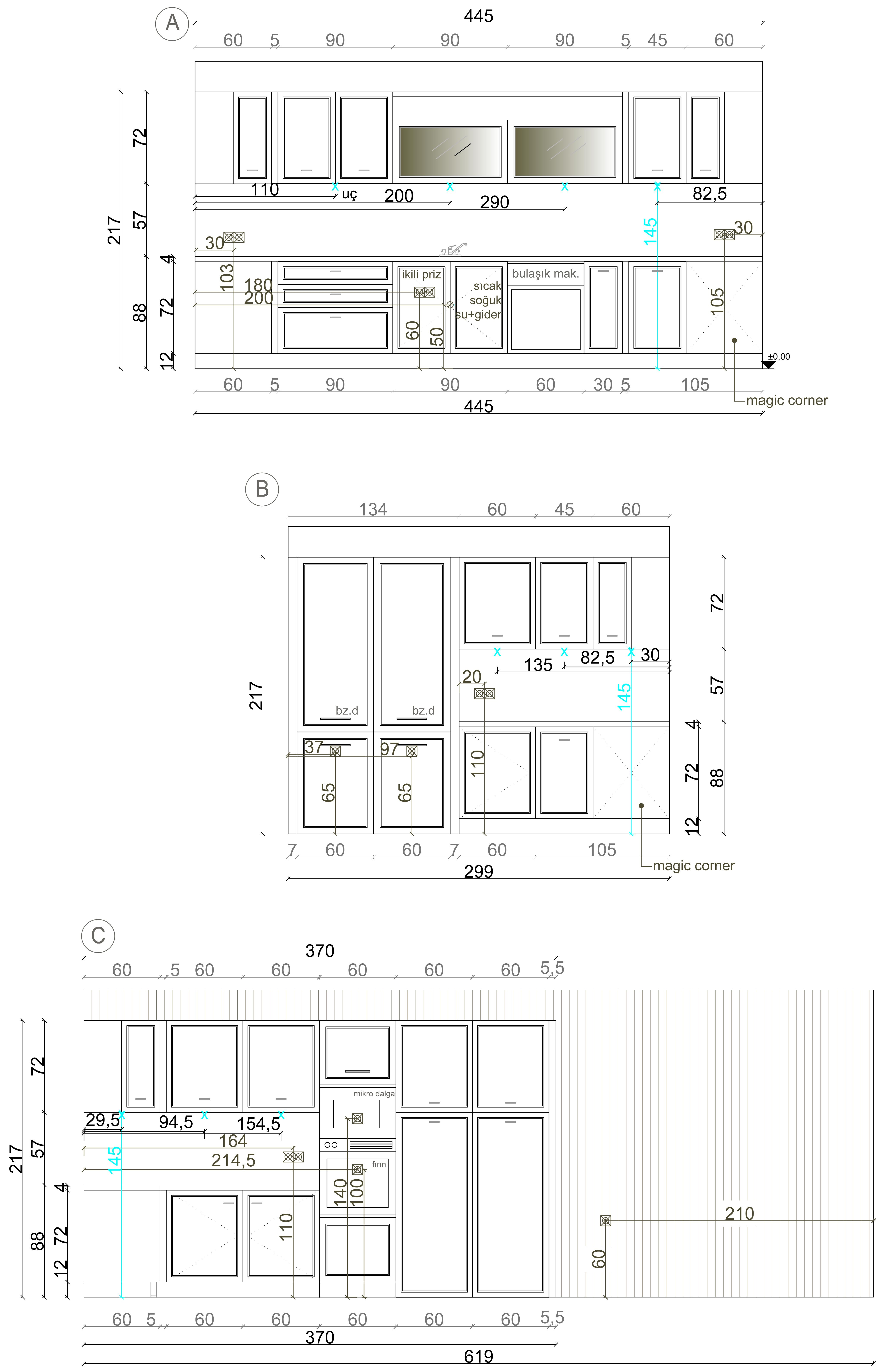 Kitchen Project Elevations