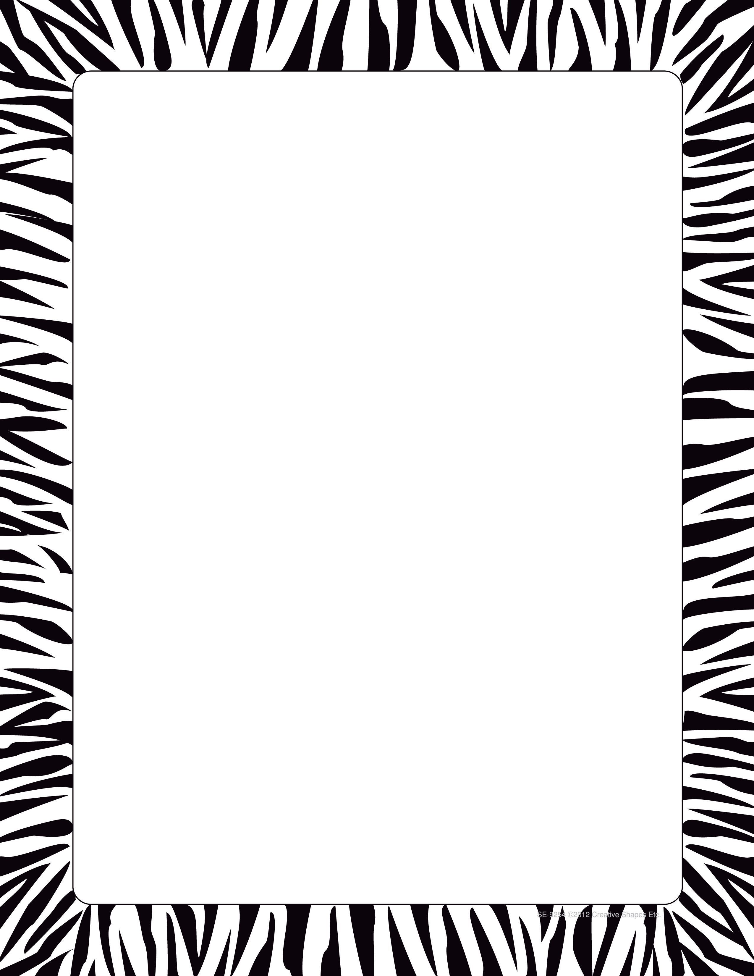 Sheet Zebra Paper Designer PackageProducts Border50 On0wkP