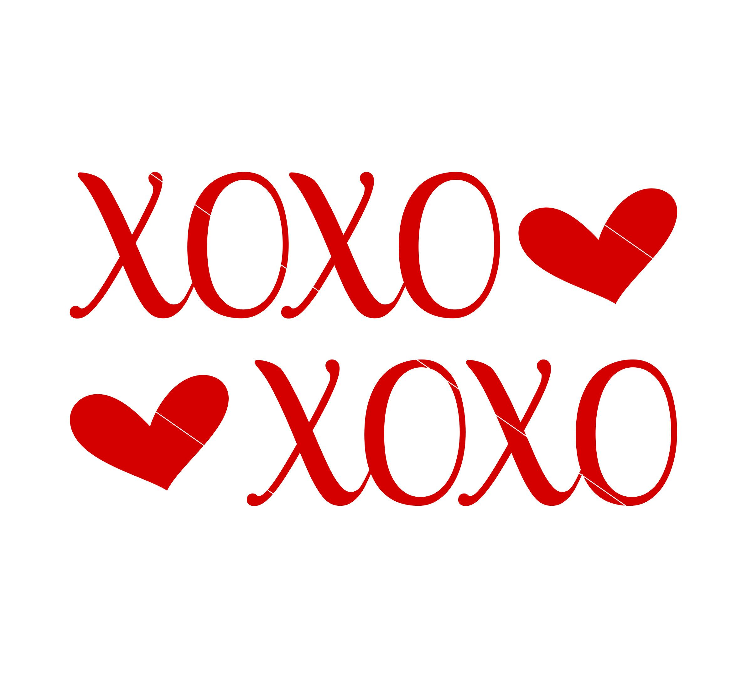 Download XOXO SVG Hugs and Kisses Be Mine Valentines Day Svg Dxf ...