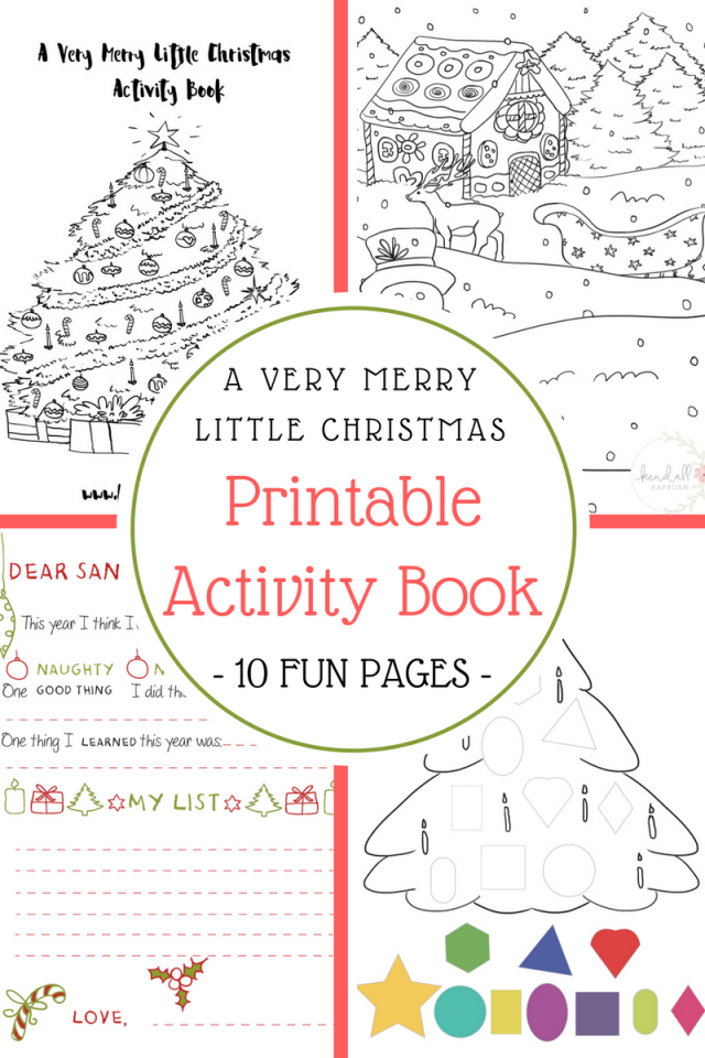Christmas Printable Activity Book | KendallRayburn.com | Christmas ...
