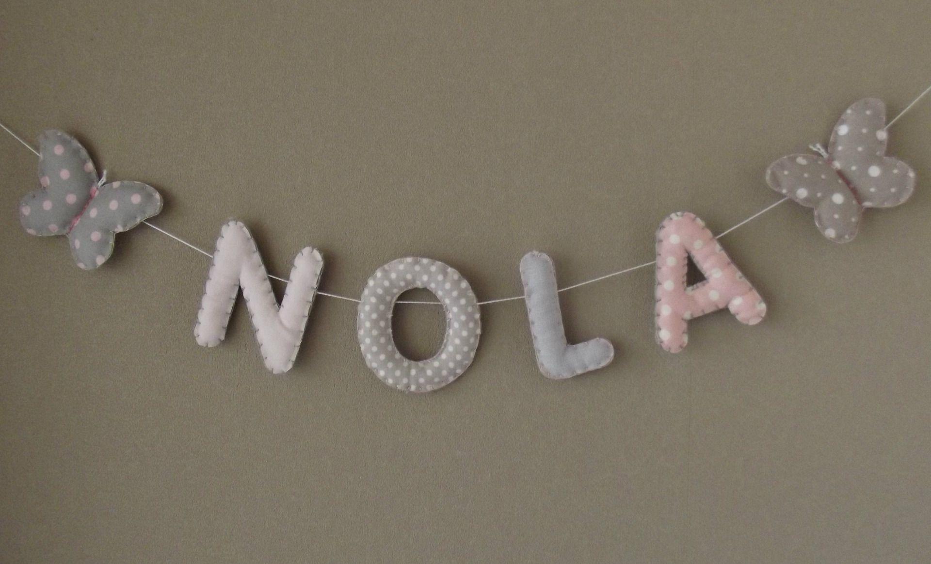 Banderole Prénom ou lettres pour décoration chambre bébé/enfant