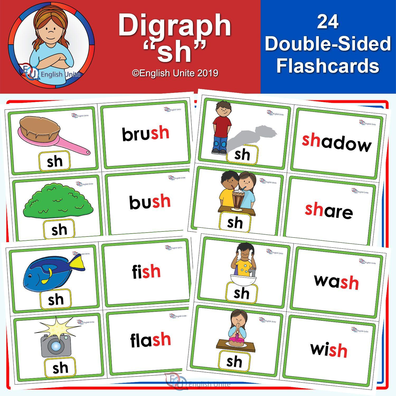 Flashcards Sh Digraph English Unite Flashcards Phonics Flashcards Digraph [ 1500 x 1500 Pixel ]