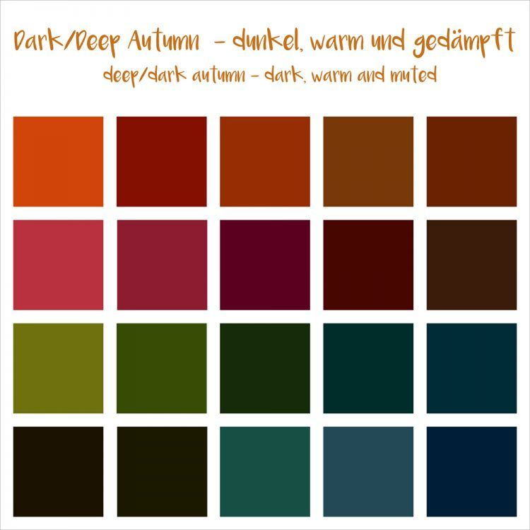 deep autumn 12 er farbtypen pinterest farben farbkarten und herbst. Black Bedroom Furniture Sets. Home Design Ideas