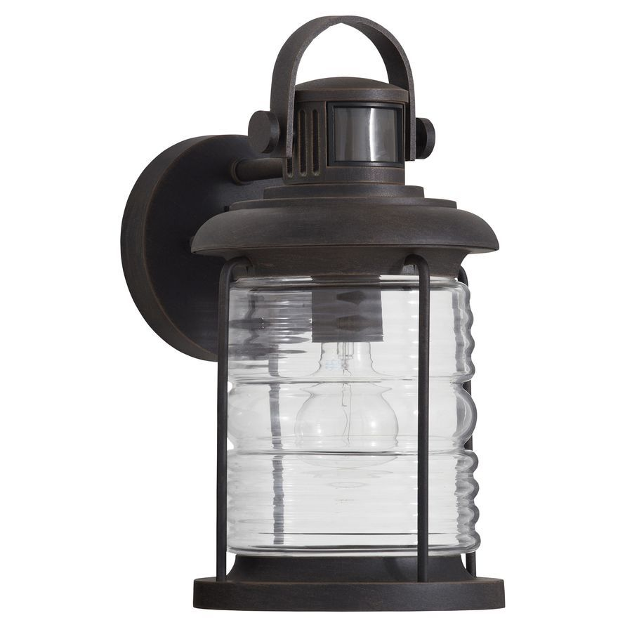 allen + roth Stonecroft 13.41-in H Rust Motion Activated Outdoor Wall Light  sc 1 st  Pinterest & allen + roth Stonecroft 13.41-in H Rust Motion Activated Outdoor ...