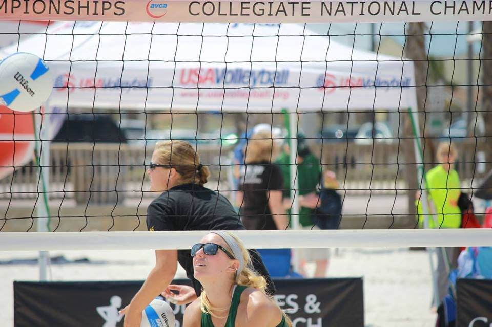 Avca Collegiate Volleyball Teams Battled In The Sand At The 2014 Sand Volleyball Championship In Gulf Shores Alabama On May 3 Beach Sports Sports Orange Beach